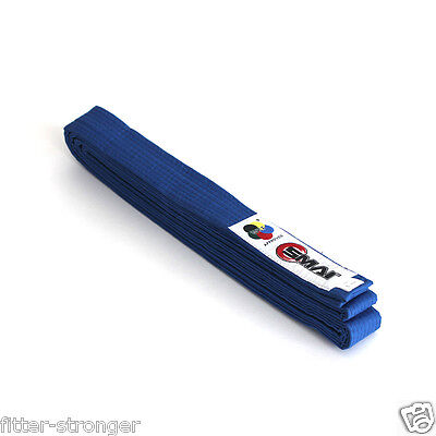 KARATE BELT BLUE SMAI WKF Approved 3 4 5 6 7 SIZE G.I UNIFORM NEW KIDS ADULT