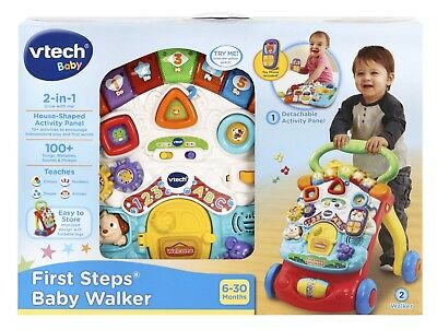 New Vtech Baby Infant Toy First Steps 2-In-1 Baby Walker Activity Centre 061763
