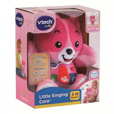 New Vtech Baby Infant Toy Little Singing Cora Musical Teddy Bear Pink 165753
