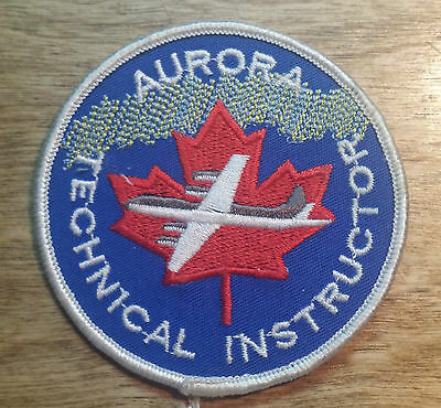 Vintage Aurora Technical Instructor Patch Badge Canadian Military Air Force