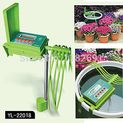 Automatic Watering Irrigation System Water Sprinkler Drip Plant Timer Wet Garden