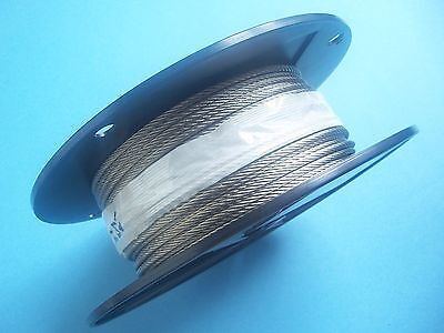 "Cable Railing Type 316 Stainless Steel Wire Rope Cable, 1/8"",7x19, 250 ft Reel"