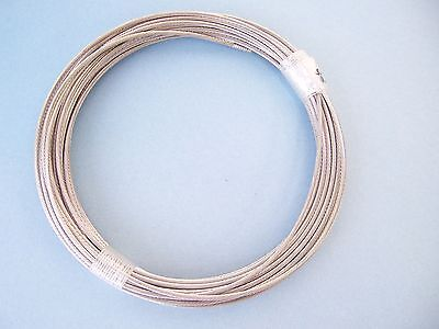 "Cable Railing T316 Stainless Steel Wire Rope Cable Strand, 1/8"", 1x19, 100 ft"