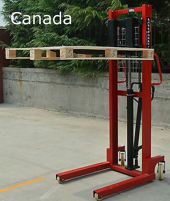 1 Ton Manual Hydraulic Pump Walkie Stacker Forklift Reach Pallet