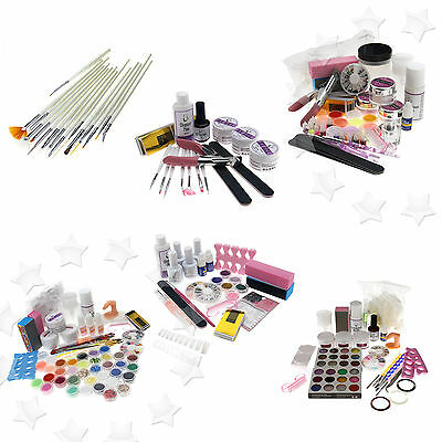 Nail Soak Off/UV Gel/ Acrylic Powder Decoration Set Nail Art Full Kit
