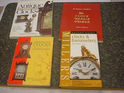 Lot of 4 Great Clock Clockmaker Repair and Indentification Guide Books  F073