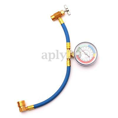 R134A Car Air Conditioning Refrigerant Recharge Measuring Hose Adapter Gauge