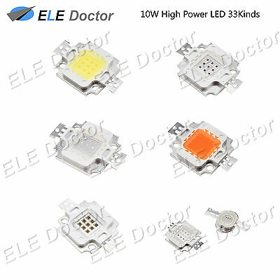 10W watts High Power SMD LED Chip Light Beads White Red Blue Yellow Grow Lamp