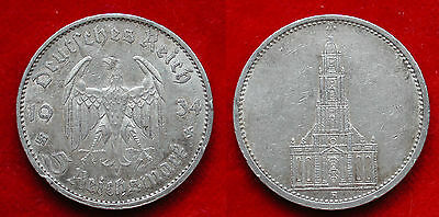 Moneta Coin Germania Deutschland 5 Mark 1934.a Potsdam Argento Silber Silver