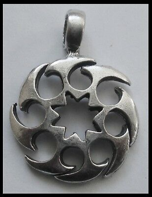 PEWTER CHARM #1175 CELTIC ISLE (36mm x 27mm) 1 bail PENDANT