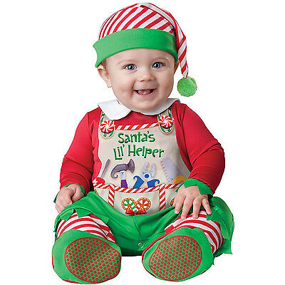 baby christmas elf santas lil helper cute costume fancy dress outfit infant