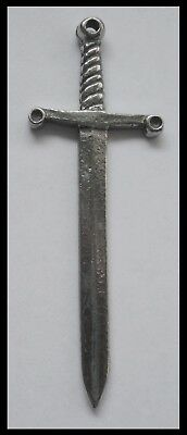 PEWTER CHARM #1179 PLAIN DAGGER (60mm x 20mm) 1 bail pendant SWORD