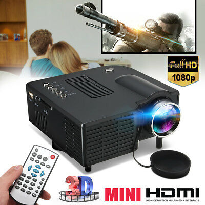 HDMI Micro AV LED Digital Mini Video Game Projector Multimedia player Black AU