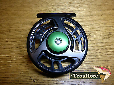 5 / 6 WEIGHT BLACK ANODIZED CNC ALUMINUM w SMOOTH DRAG - NEW FLY FISHING REEL