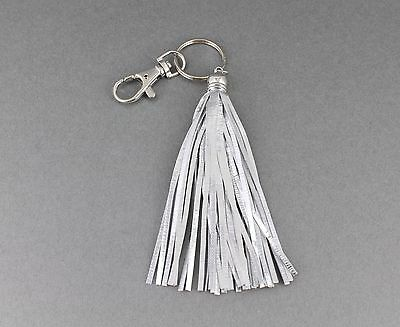 tassel keychain purse charm faux leather tassels Gold Silver Black bag handbag