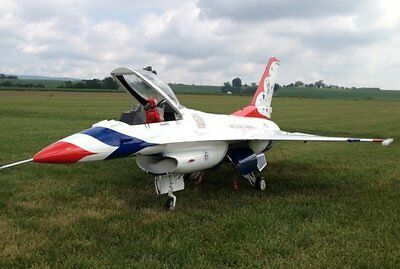 "1/6 Scale F-16A FIGHTING FALCON 61 ""WS scratch build R/c Plane Plans & Patterns"