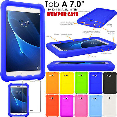 Rugged Soft Silicone Shock Proof Kids BUMPER Case for Samsung Galaxy Tab A 7.0""