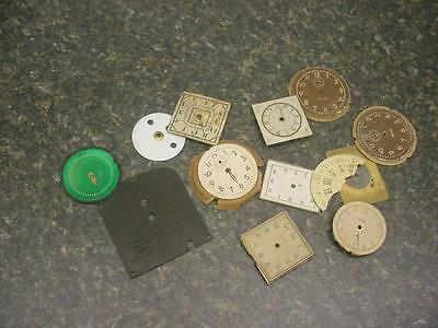 Lot of  Vintage Clock Dials from Mantle Wall Clocks Steam Punk Creative Art E804
