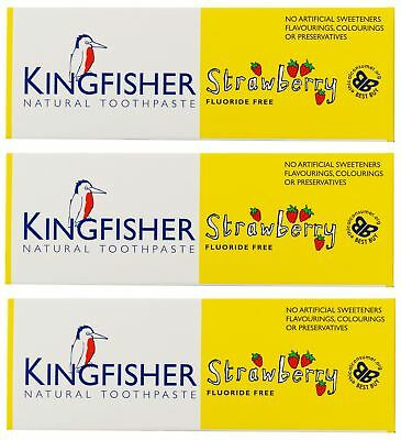 Kingfisher Children's Strawberry Toothpaste - 75ml (Pack of 3)