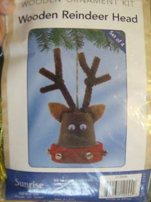 Wooden Flowerpot Reindeer Head Ornament Kit- Makes 4 of 2x3.5 Inches When Finish