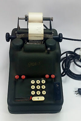 Vintage ADDO-X Mod. 385E 15 key Electric Calculating Machine Made In Sweden