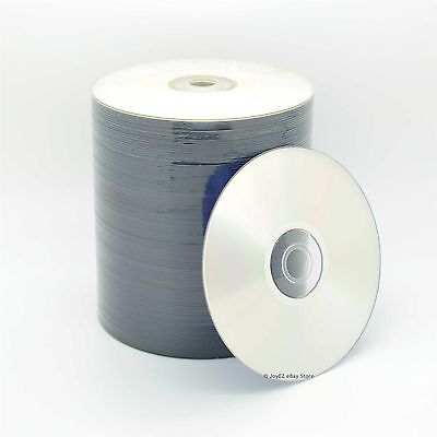 100 Pieces 16X Blank DVD-R DVDR Disc Media Silver Matte Top Finish 4.7GB