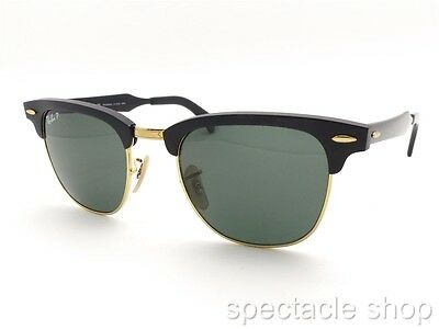 Ray Ban Clubmaster Aluminum 3507 136/N5 Brushed Black Polar New 100% Authentic