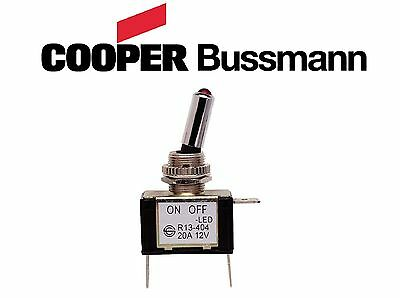 Bussman On-Off Toggle Switch 20 Amp W/Red LED Bobber Custom Street BMW