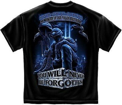 Military Tshirt In Memory Of Our Fallen Brothers POW MIA Soldier War Veteran Nam