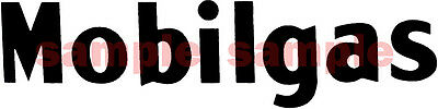 8.75 x 1.5 INCH MOBIL GAS / OIL DECAL BLACK