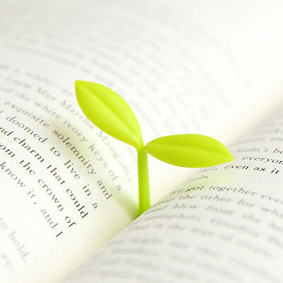 2 Pcs Fresh Leaves Bookmarks Reading Clip Gift Book Mark Novelty Label Dust Plug
