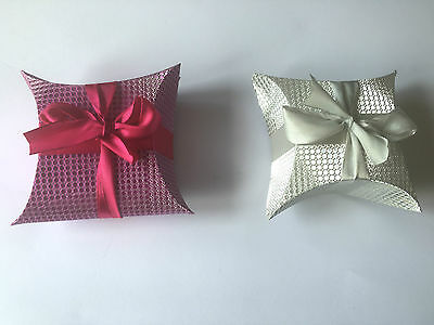 Luxury Shiny Silver Or Pink Gift Jewellery Box With Ribbon Wedding Party Favor