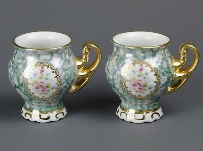 2 Carlsbad  Czech Porcelain Mocca Cups