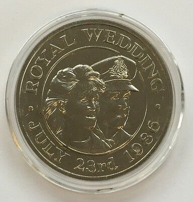 St Helena & Ascension 1986 Royal  Wedding 50 Pence coin - Free Postage