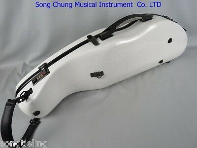 Camber modle white strong strengthen fibre violin case with(coded lock )