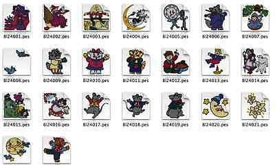Nursery Rhymes Brother Machine Embroidery Designs PES CD,USB