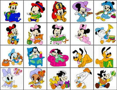 Disney Babies Mickey & Minnie Brother Machine Embroidery Designs PES CD,USB