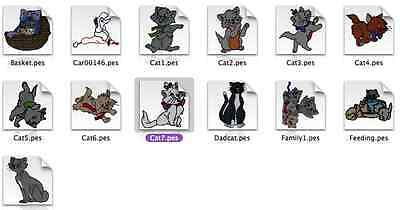 Disney Aristocats Brother Machine Embroidery Designs PES CD,USB