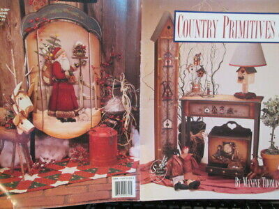 Country Primitives 3 Painting Book By Maxine Thomas, Seasonal Ovals, Birdhouses