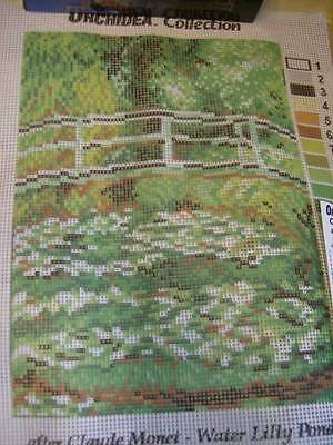 Orchidea Water Lily Pond (Monet) Needlepoint Canvas 8x10.5 Inches