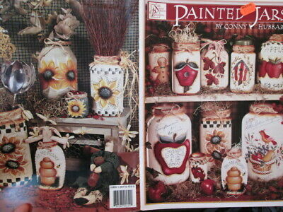 Painted Jars Painting Book By Conny Hubbard, Birds, Fruits, Gingerbread Men +