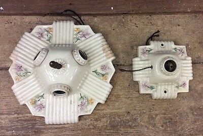 Matching Porcelain Vintage Flush Mount Ceiling Light Fixture Bathroom/Bedroom-10