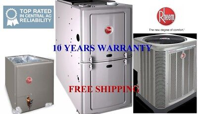 2.5 Ton R410A 16SEER Complete A/C & Heat System Condenser & Coil & 50K Furnace