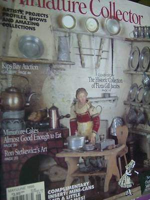 Miniature Collector Mag M/J 1995 Desserts (Cakes) Chairs Toys, Flora Gill Jacobs