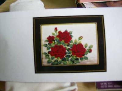 Dark Red Roses #192 Tokyo Bunka Needle Punch Embroidery Picture Kit