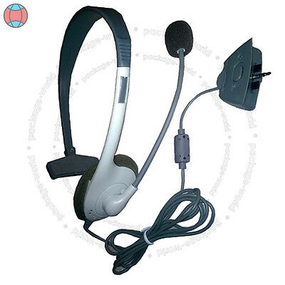 New White Headset Headphone Microphone For Xbox 360 Live Chat Pwuk