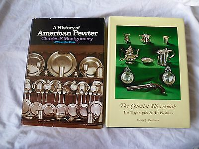 2 Books History Of American Pewter/colonial Silversmithtechniques Winterthur