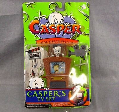 Casper's TV Set Action Figure Casper the Friendly Ghost NEW Vintage 1997 MOC