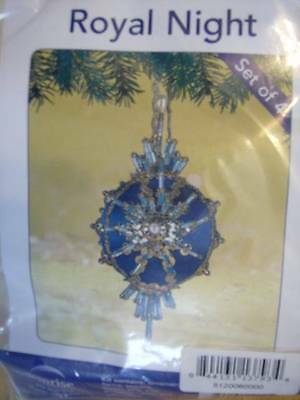 Royal Night Sequin Ornament Kit Makes 4-2.5x5 Inches Each