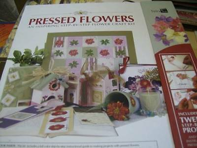 Spice Box Press Flowers Kit -20 Projects, Book, Press, Flowers, Papers, Bookmark